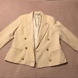 Vintage 90's Austin Reed Wool Ivory Blazer